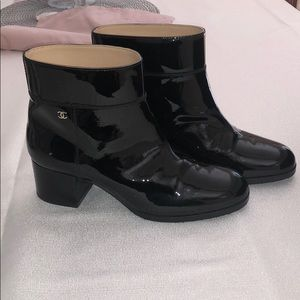 Chanel Black Short Boots
